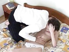 Tall skinny russian girl fucked by that repairman 2