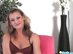 Super hot mom kia caressing her shaved pussy