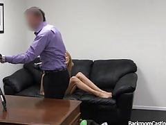 amateur, backroom, casting, couch, audition, blonde, ski