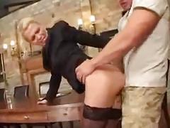 German porn: boss gets a huge cock
