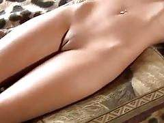 Very hot 10 blonde masturbating on bed
