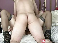 Mature blond gets cock