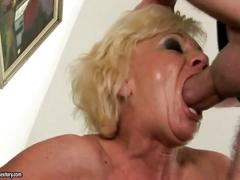 Hot hairy granny getting fucked hard