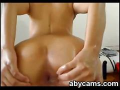 Webcam slut anal play