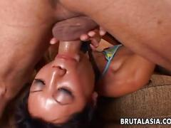 Busty asian tia ling face fucking and deep fucked