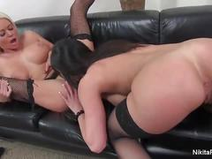Nikita von james toying with her hot bff