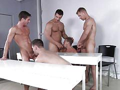 Classroom turns into a gay orgy place