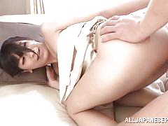 threesome, babe, japanese, blowjob, double penetration, from behind, censored, hard fucking, wierd japan, all japanese pass, ruri narumiya
