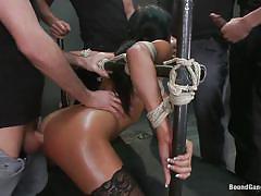 milf, anal, bondage, big tits, gang bang, interracial, deepthroat, domination, rope bondage, bound gang bangs, kink, anissa kate, james deen, mark davis, mickey mod, karlo karrera, rob blu
