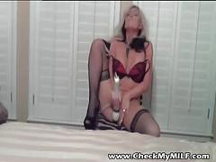 Check my milf - tanned busty mature amateur wife pussy play