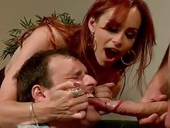 Mistress trainig a cuckold