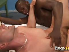 Massive black cock fills white army