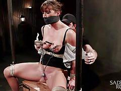 bdsm, babe, vibrator, tied up, clothespins, mouth gagged, clamps on pussy, rope bondage, sadistic rope, kink, ariel xxxxxx
