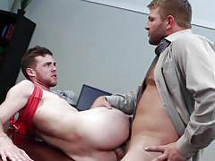Colby and brandon swallow dicks, fuck in the office
