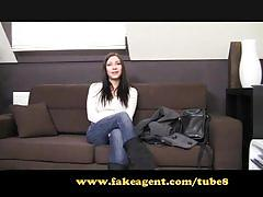 Fakeagent. temptress with an amzing body demands a creampie.