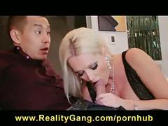 Cheating big-tit blonde wife slut has pussy fucked hard by tutor
