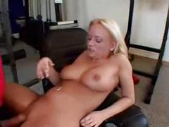Teen babe fucked by trainer