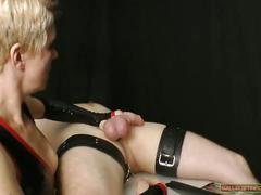 Femdom sounds cruelly her bound slave with new sounding rods