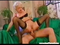 I am pierced granny with pussy piercings and huge dildo