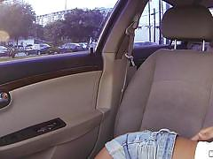 handjob, babe, latin, outdoor, pov, cock sucking, big breasts, stranded, in the car, stranded teens, mofos network, sarai