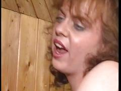 Two busty milfs share one cock in a threesome