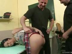 Schoolgirl getting punished and fucked