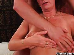 cumshot, facial, milf, mature, old, hairy, granny, older, big-tits, grandma, gilf, grandmother