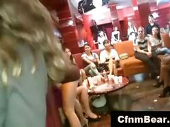 Cfnm girls suck off cfnm strippers cock