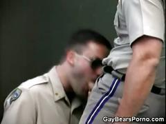 Bear cops in locker room fuck