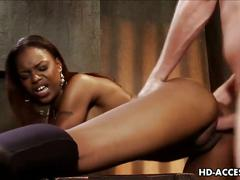 Black slut marie luv riding white cock