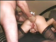 Mega hard double fisting and huge cock