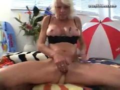 Blonde housewife gets tagged