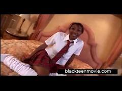 Busty black school teen fucking