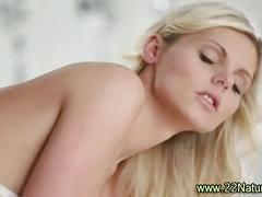 Petite blonde babe creamy release