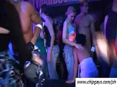 Hardcore girls dancing at night club