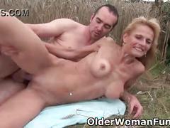 cumshot, outdoor, milf, mom, outdoors, granny, mommy, mother, cougar, grandma, gilf, outdoor-sex, full-length, mom-fuck, mom-sex, milf-fuck, granny-fuck