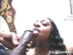 Big tits ebony take a huge black cock