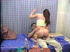 Drunk russian teen sofasex
