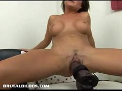 Sophia getting destroyed by thick dildo machine
