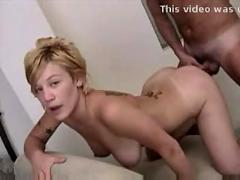 Cheating slut doggy styled on home video
