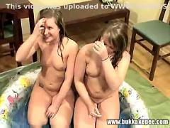 Twins enjoy a bukkake and golden showers part 2