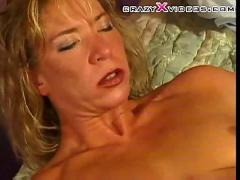 Blonde milf gives it up to sons friend