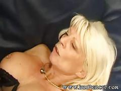 Sex w pierced french mature with rings in nipples and pussy