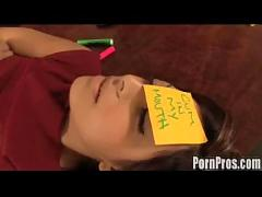 Audrianna is asleep on the blowjob