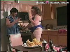 Bbw kitchen fetish