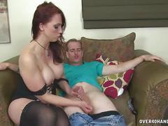 Sexy milf dominant handjob