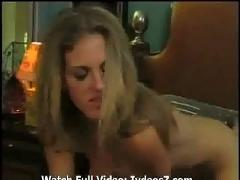Blonde amateur sucking dick and getting fucked hard