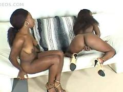 Two sexy black lesbians