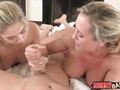 Teen beauty mia malkova sharing cock with stepmom brandi love