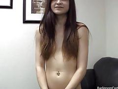 Anal creampie casting cutie